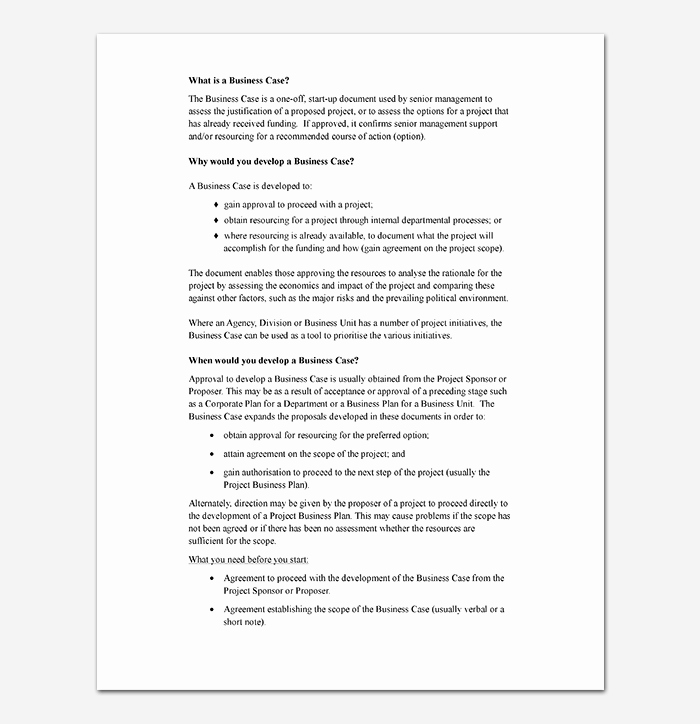 Business Case Example Pdf Awesome Business Case Template 9 Simple formats for Word Excel Pdf