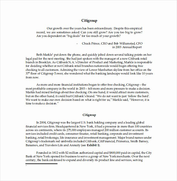 Business Case Example Pdf Awesome Case Study format