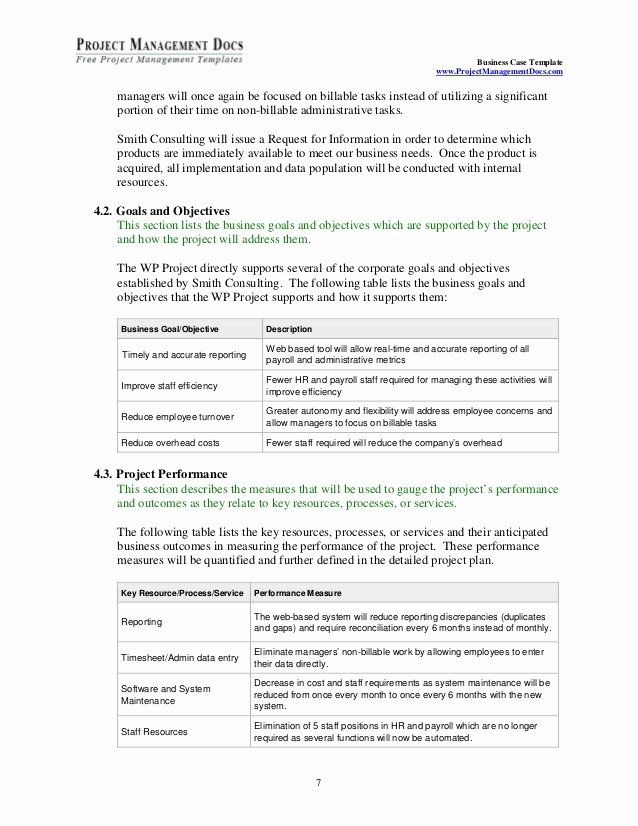 Business Case Example Pdf Best Of Business Case Template