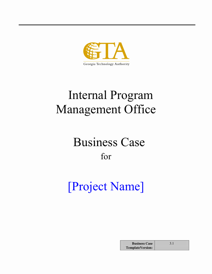 Business Case Example Pdf Elegant Business Case Template In Word and Pdf formats