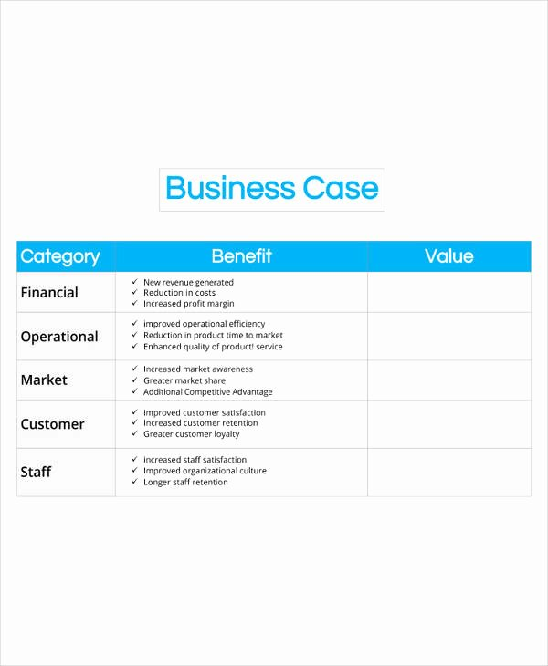 Business Case Example Pdf Lovely 13 Business Case Templates Pdf Doc