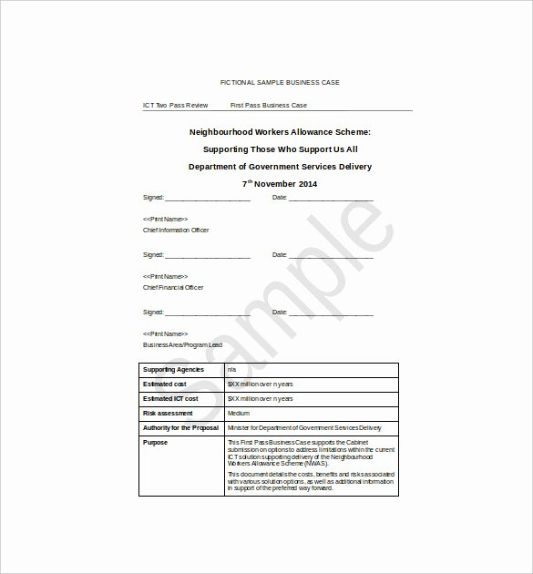 Business Case Example Pdf Lovely Simple Business Case Examples
