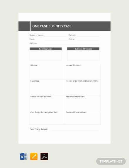 Business Case Example Pdf Luxury Free E Page Business Case Template Pdf Word Excel Apple Pages