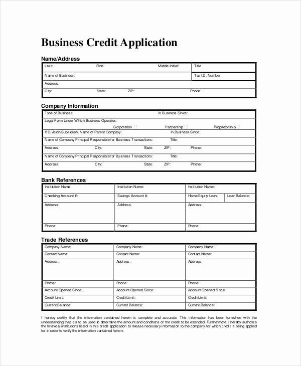 Business Credit Application Pdf Inspirational Business forms 8 Free Word Pdf Documents Download