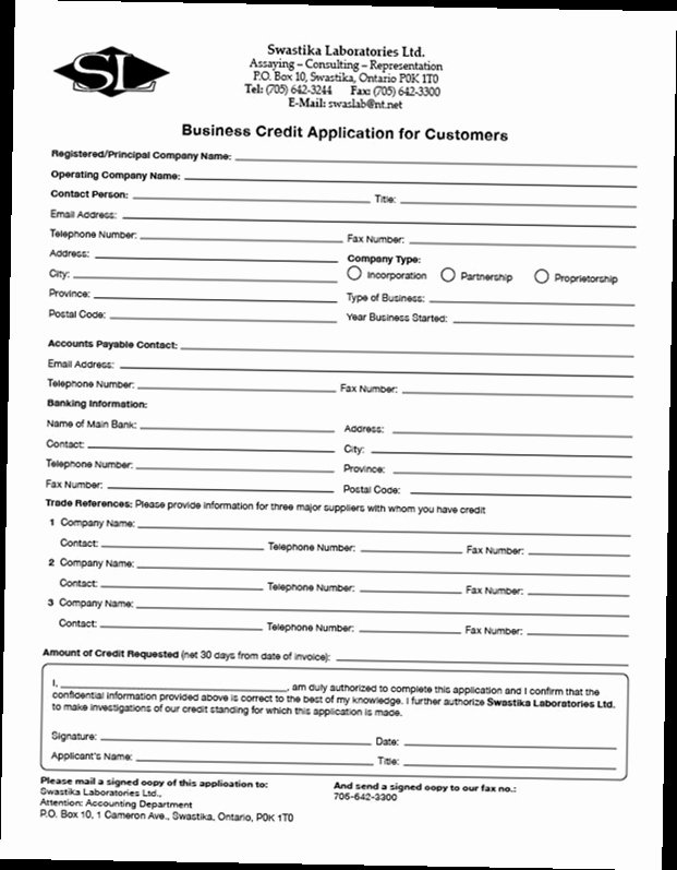 Business Credit Application Pdf Lovely Business Credit Application form Pdf
