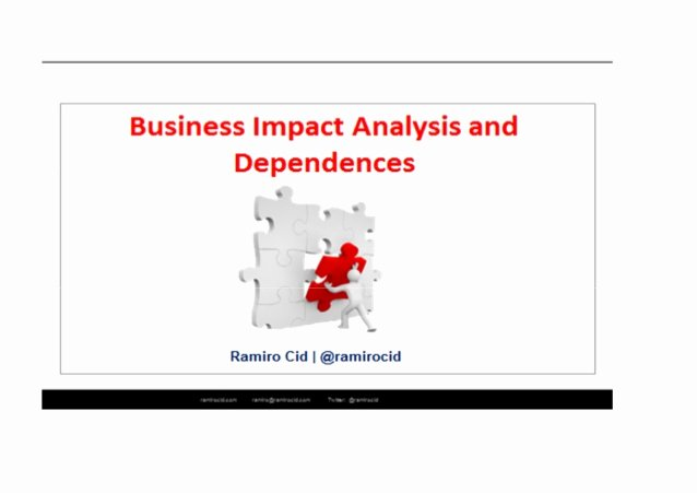 Business Impact Analysis Example Best Of Bia Example Of Business Impact Analysis and Dependencies