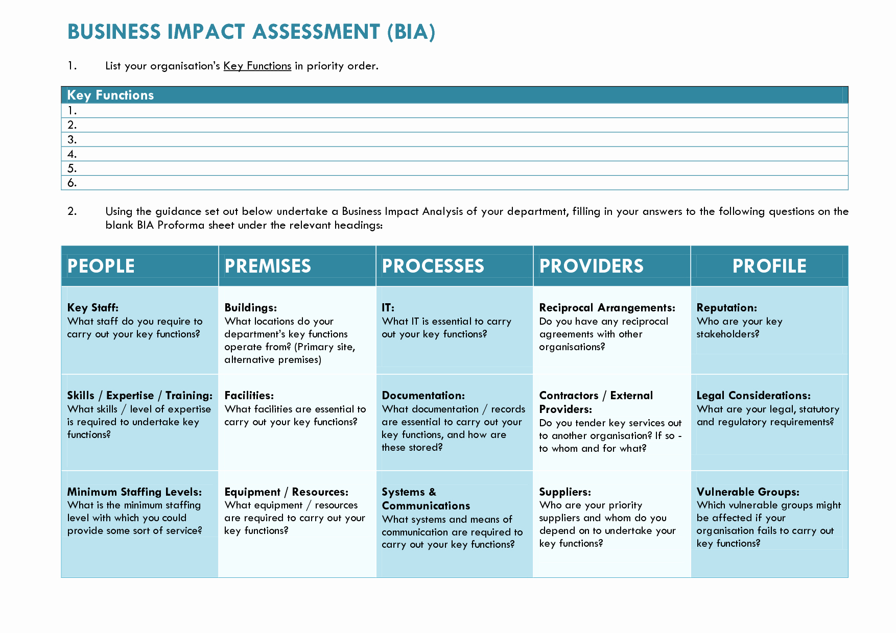 Business Impact Analysis Example Fresh Business Impact Analysis Template