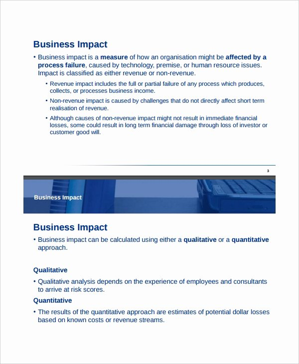 Business Impact Analysis Example Inspirational Impact Analysis Template 11 Free Word Pdf Documents