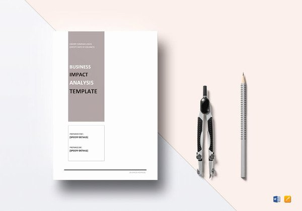 Business Impact Analysis Example Inspirational Service Business Analysis Sample Service Business Analysis