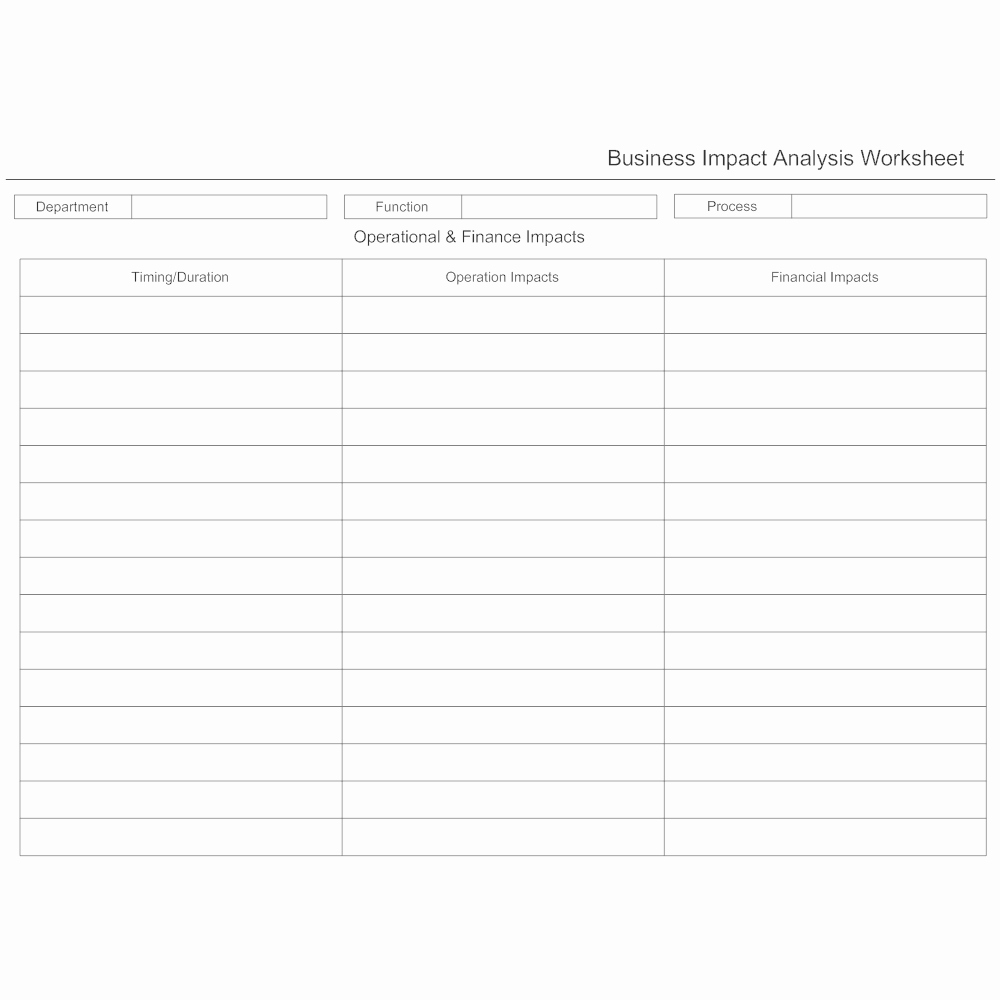Business Impact Analysis Template Beautiful Business Impact Analysis Worksheet