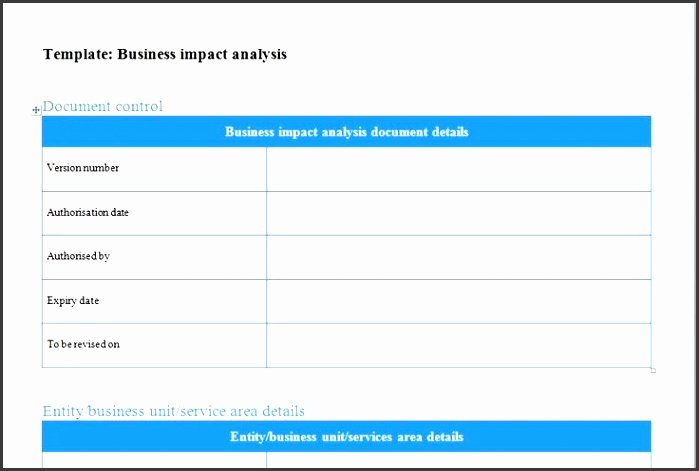 Business Impact Analysis Template Excel Inspirational 6 User Impact Analysis Template Sampletemplatess Sampletemplatess