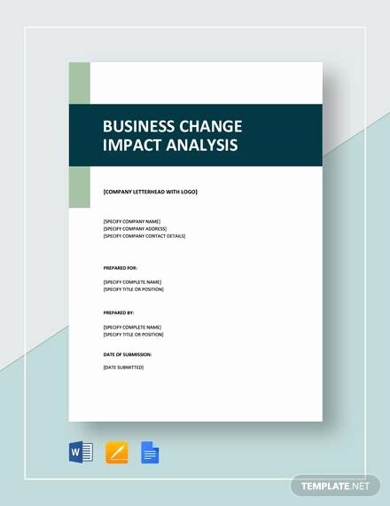 Business Impact Analysis Template Excel Inspirational 8 Impact Analysis Examples In Word Pdf
