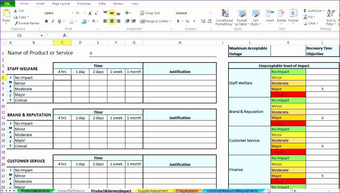 Business Impact Analysis Template Inspirational 10 Project Management Template Excel Free Exceltemplates Exceltemplates