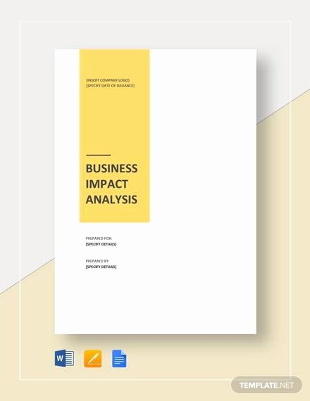 Business Impact Analysis Template New Free 16 Business Analysis Samples In Word Google Docs
