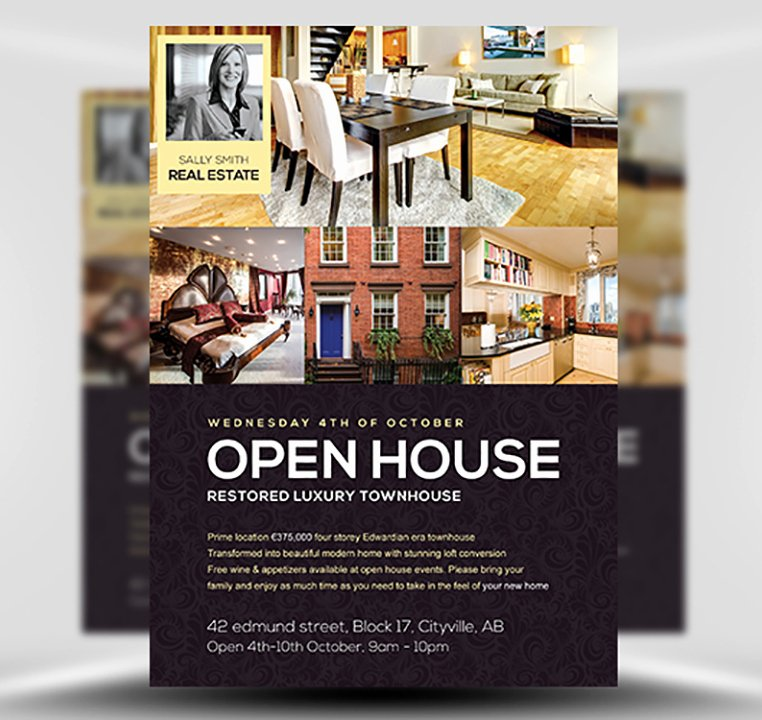 Business Open House Flyer Awesome Open House Flyer Template Flyerheroes