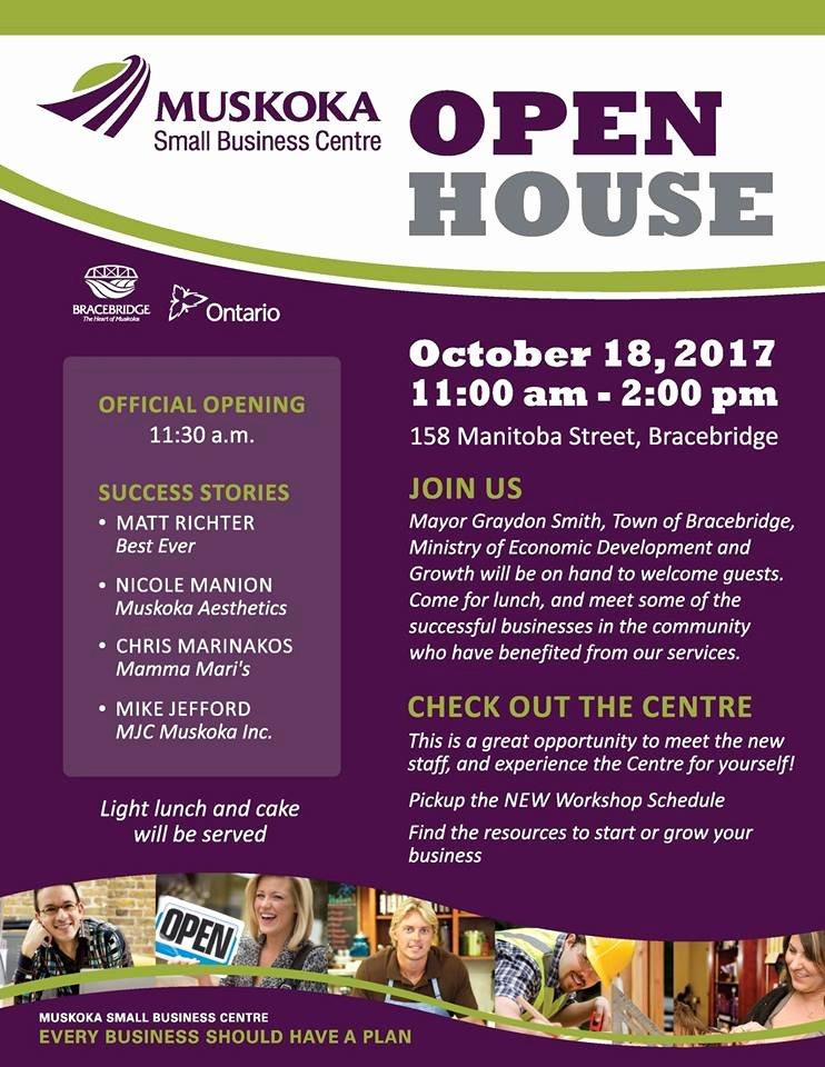 Business Open House Flyer Beautiful Muskoka Small Business Centre Open House