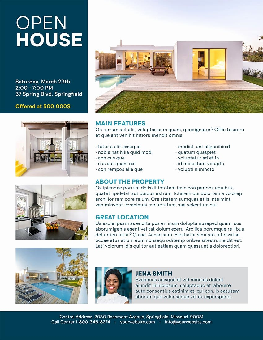 Business Open House Flyer Best Of How to Make An Open House Flyer Template In Indesign