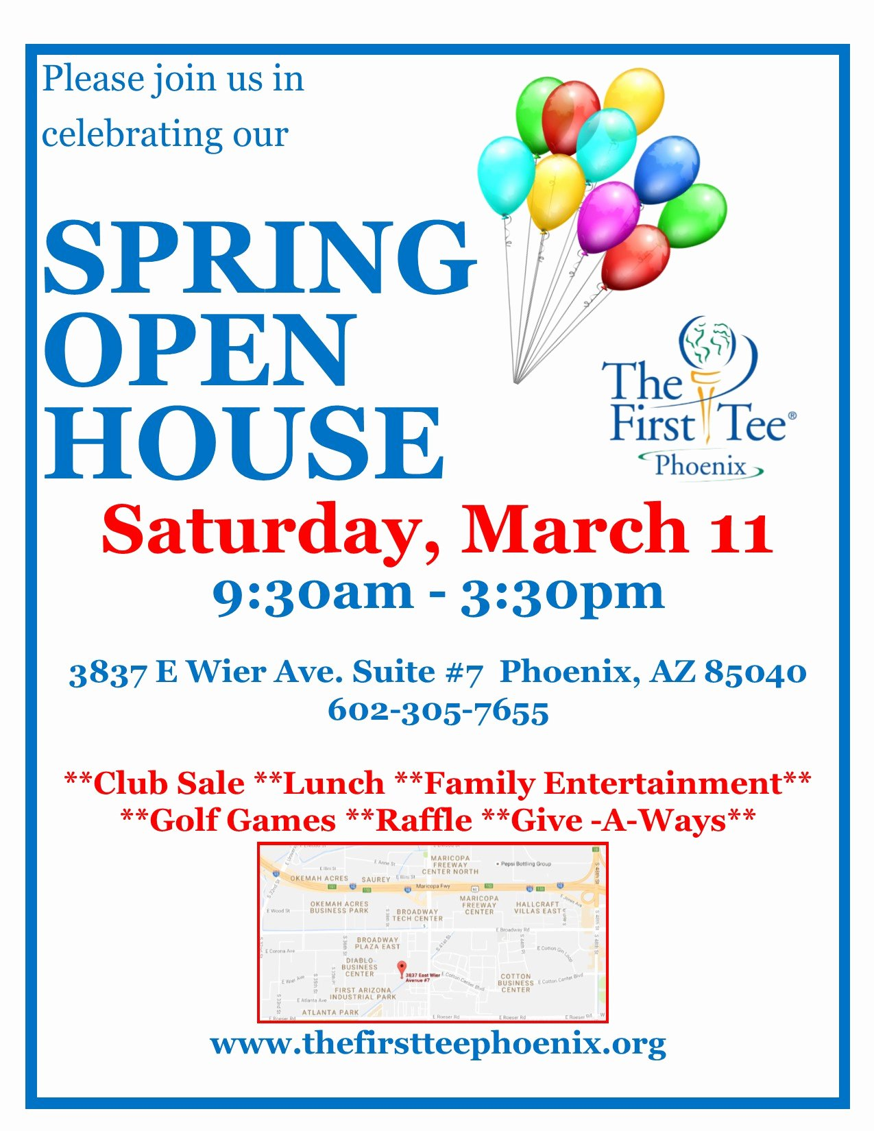 Business Open House Flyer Fresh Spring Open House the First Tee Of Phoenix