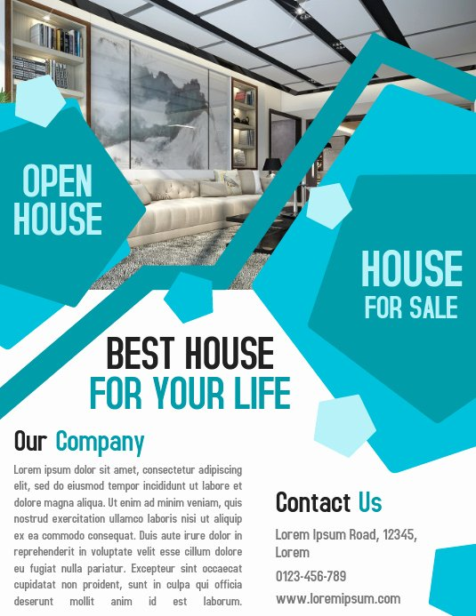 Business Open House Flyer Inspirational Open House Property Business Real Estate Flyer and Poster Template