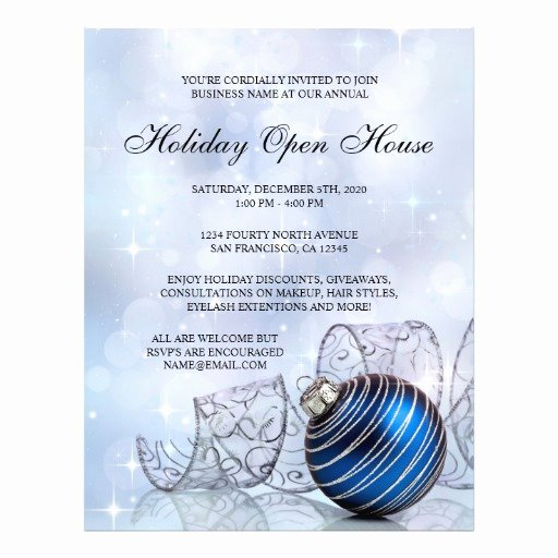Business Open House Flyer New Festive Business Holiday Open House Flyer Template