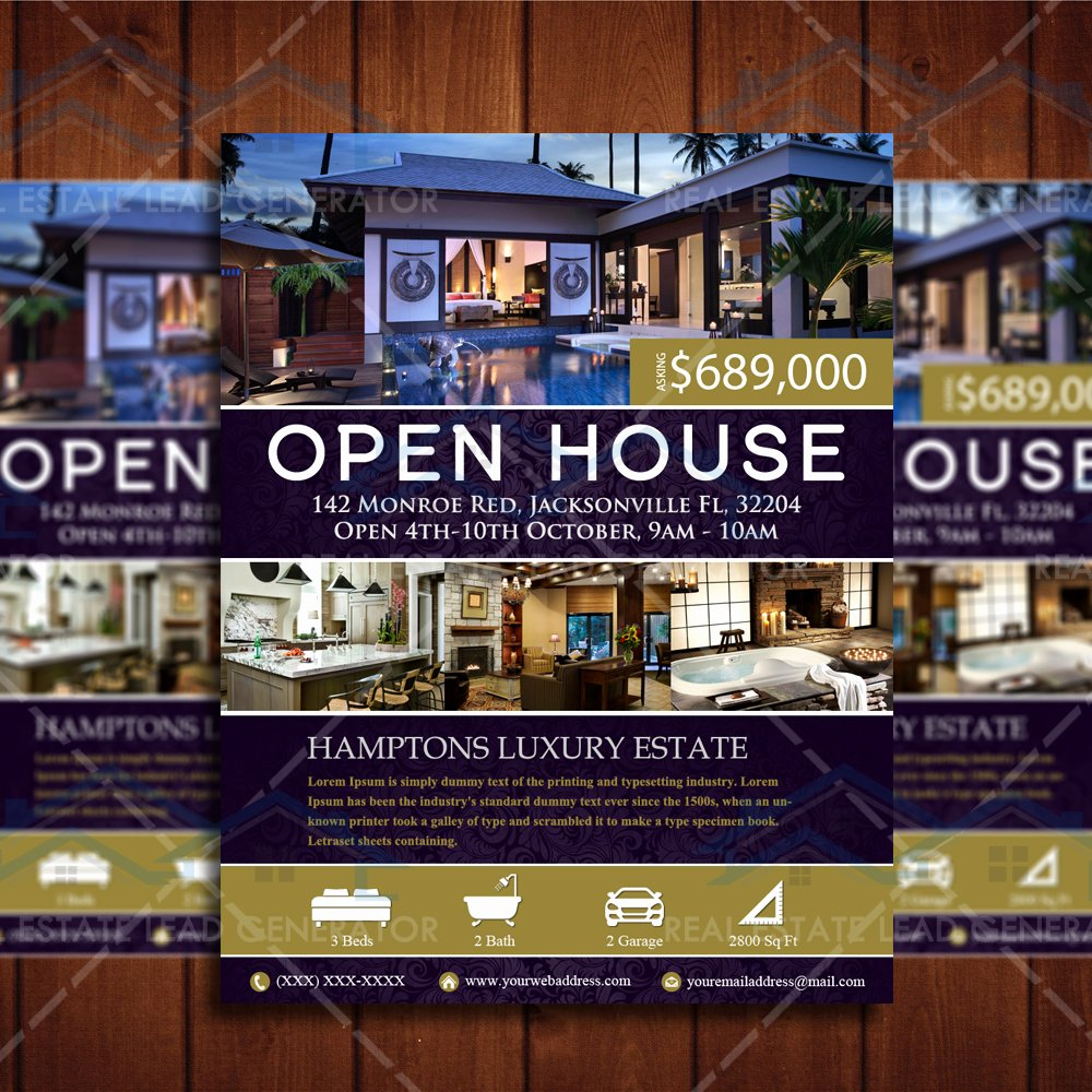 Business Open House Flyer Unique Open House Real Estate Flyer – Instant Download – Real Estate Lead Generator