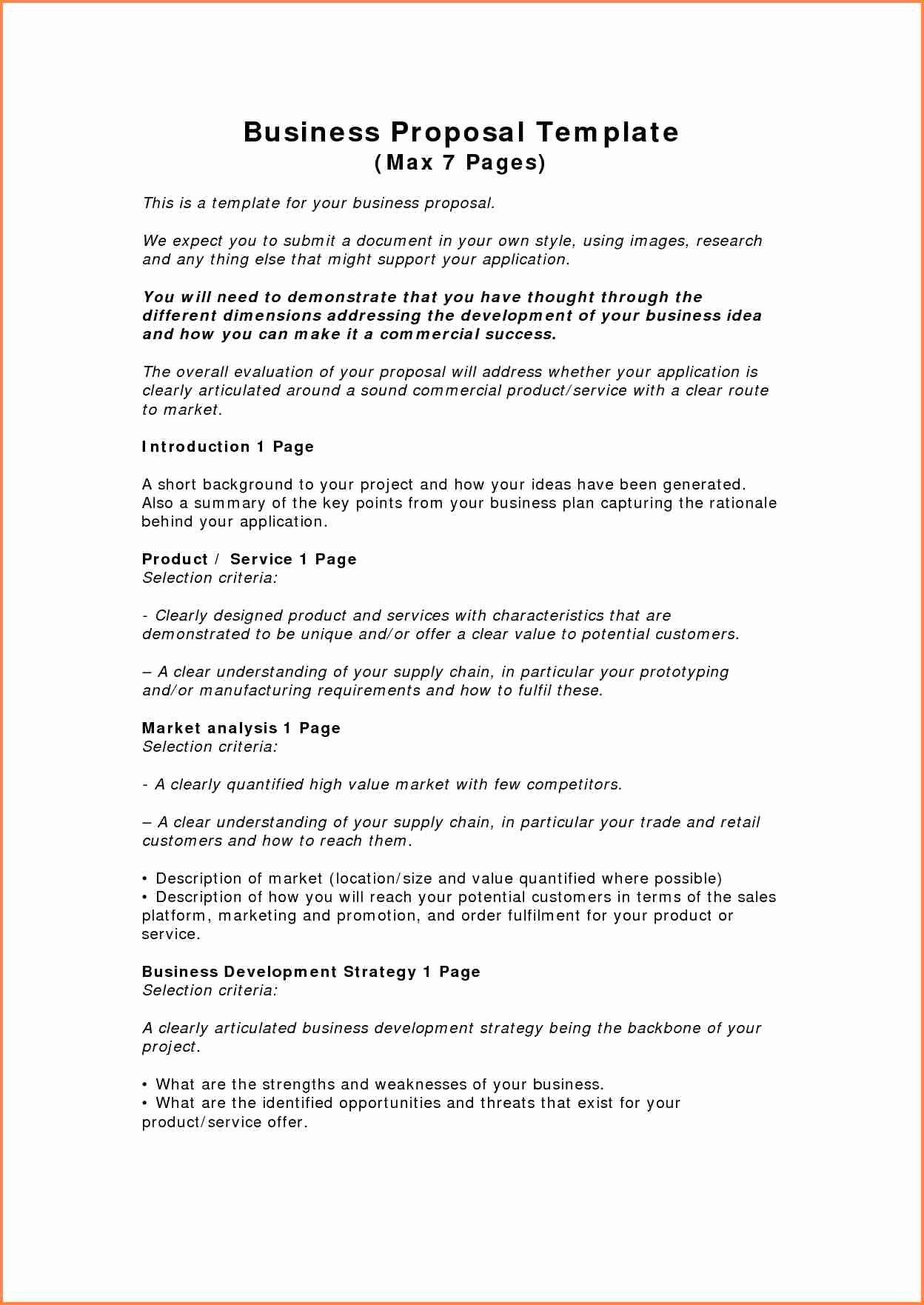 Business Partnership Proposal Sample Awesome 5 Sample Of A Business Proposal Pdf