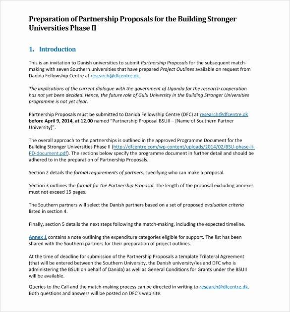 Business Partnership Proposal Sample Best Of Sample Partnership Proposal 13 Documents In Pdf