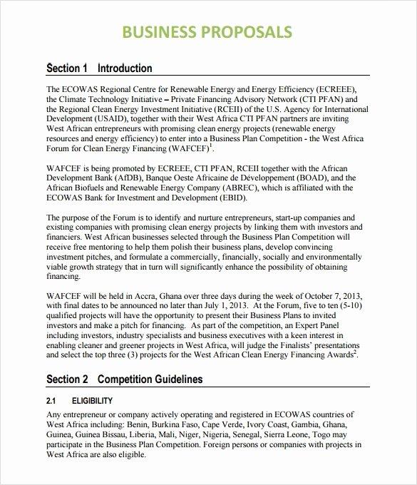 Business Partnership Proposal Sample Elegant Sample Business Proposal 24 Documents In Pdf Word