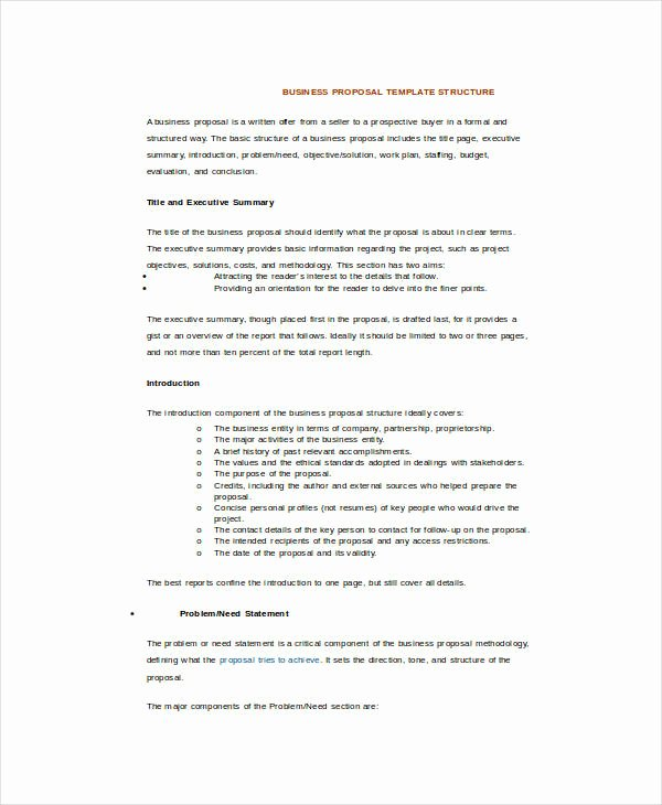 Business Partnership Proposal Sample Fresh 25 Sample Business Proposal Templates In Word