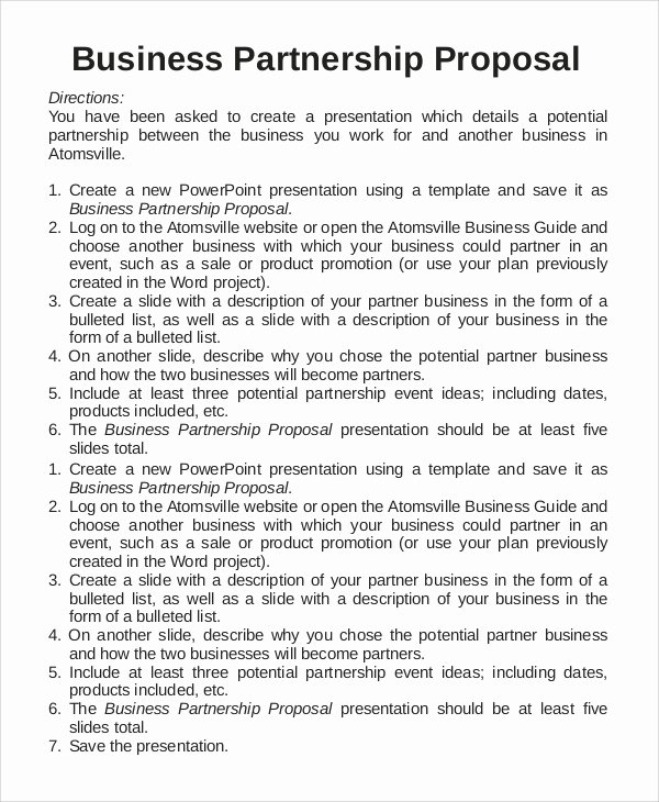 Business Partnership Proposal Sample Inspirational 17 Sample Business Proposals Doc Pdf