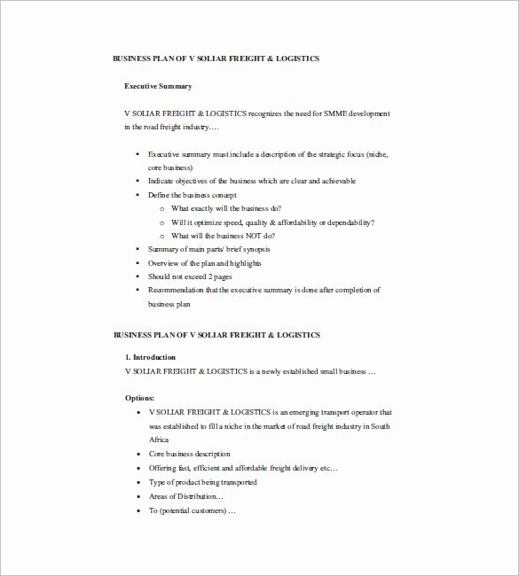 Business Proposal Example Pdf Awesome Small Business Plan Template 18 Word Excel Pdf Google Docs Apple Pages format Download