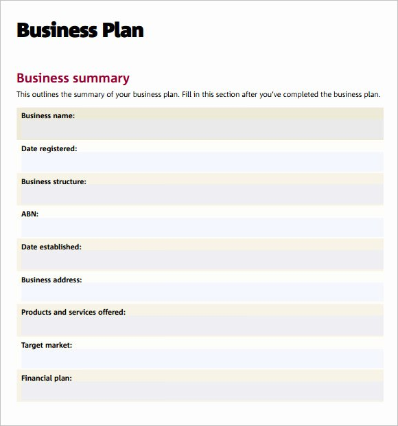 Business Proposal Example Pdf Lovely Free 9 Sample Business Plan Templates In Google Docs Ms Word Pages