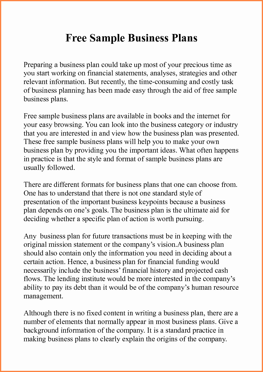 Business Proposal Example Pdf New 5 Sample Of Business Plan Proposal Pdf
