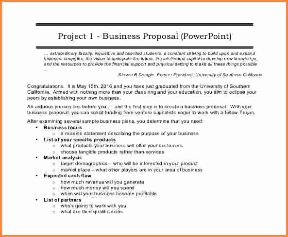Business Proposal Example Pdf Unique 6 Sample Of Business Proposal Pdf