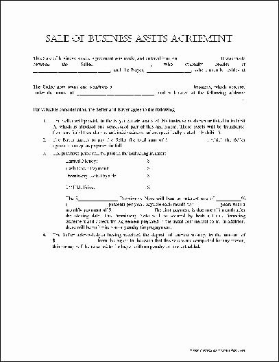 Business Purchase Agreement Pdf Beautiful Free Basic Sale Of Business assets Agreement From