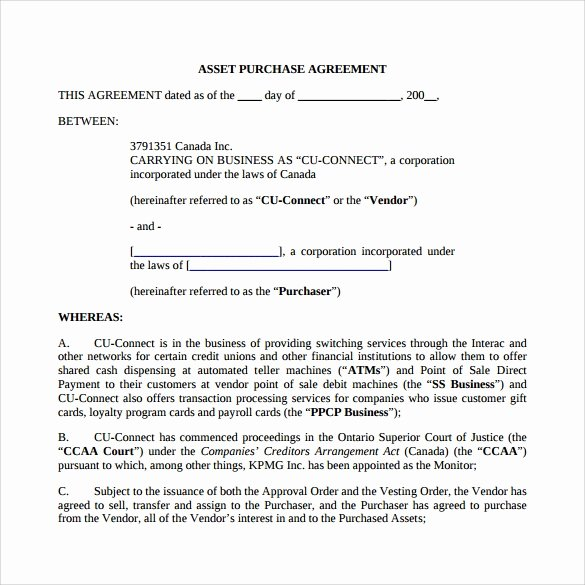 Business Purchase Agreement Pdf Inspirational asset Purchase Agreement 13 Download Documents In Pdf Word