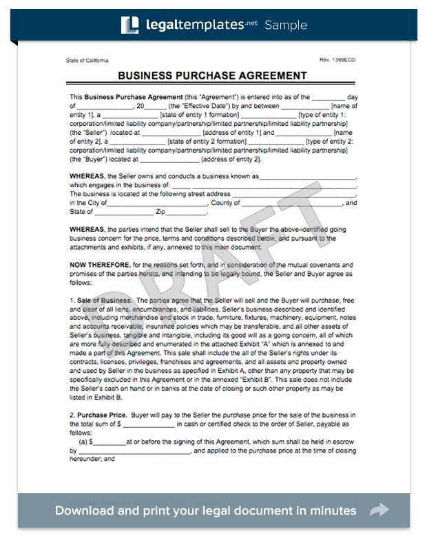 Business Purchase Agreement Pdf Lovely Create A Business Purchase Agreement