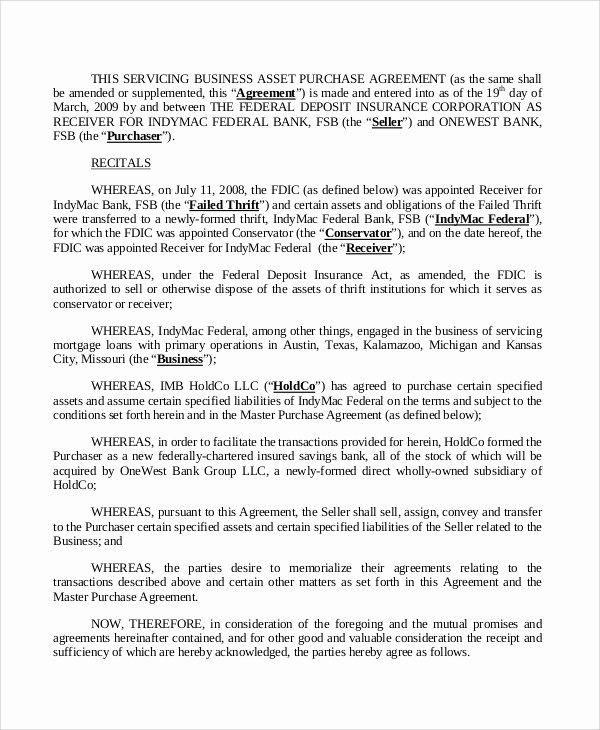 Business Purchase Agreement Pdf Unique Sample Business Purchase Agreement 7 Documents In Pdf Word
