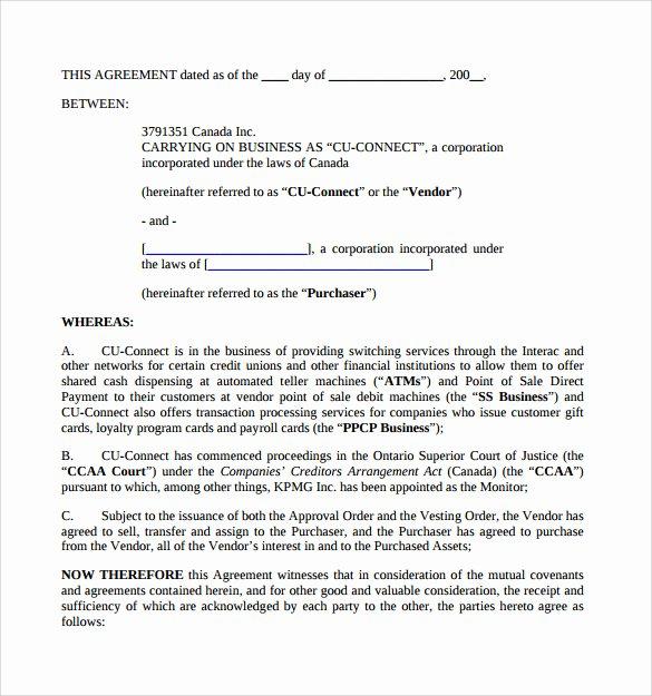 Business Purchase Agreement Pdf Unique Sample Business Purchase Agreement 9 Documents In Pdf Word