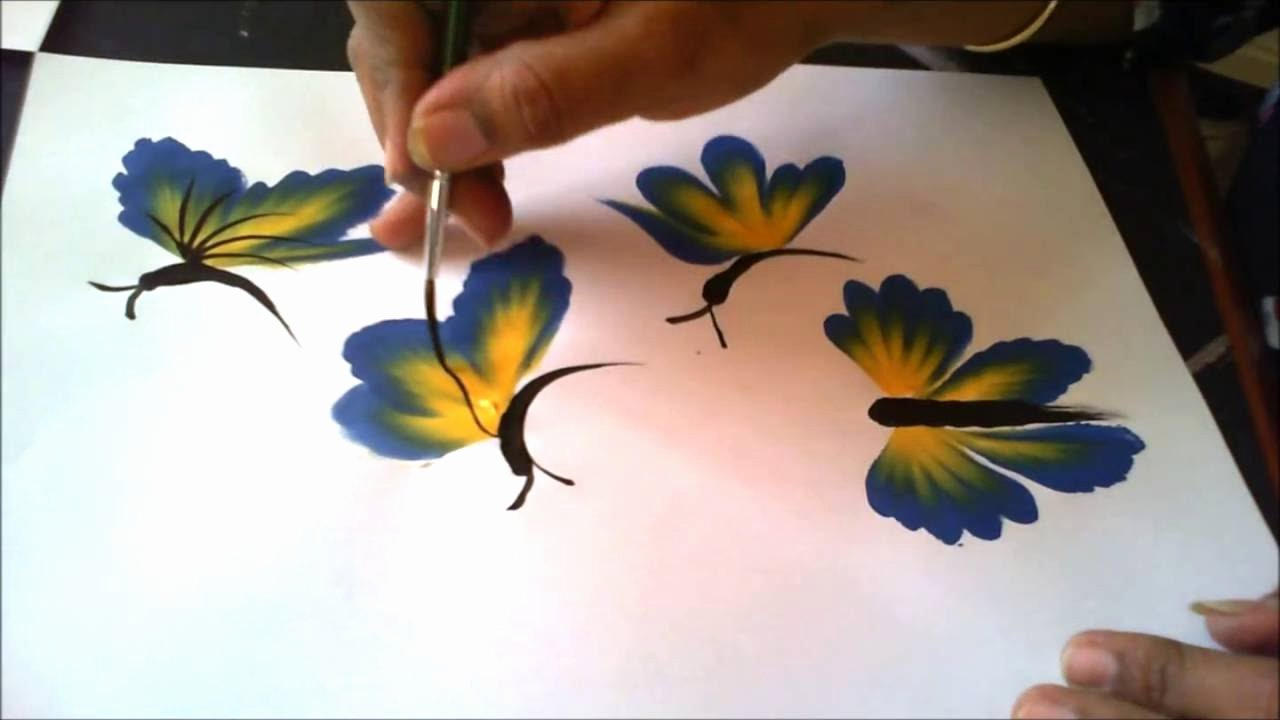 Butterfly and Flower Paintings Awesome How to Paint Beautiful butterflies Just In Few Strokes