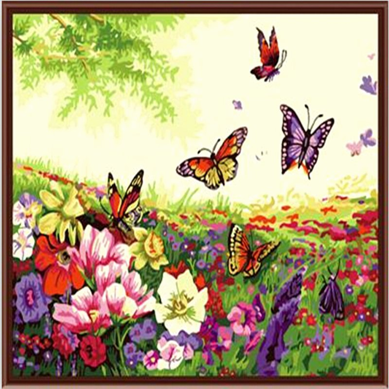 Butterfly and Flower Paintings Beautiful Vintage Home Decor Wall Art 40 50 Acrylic Oil Paintings Flower and butterfly Pictures Painting
