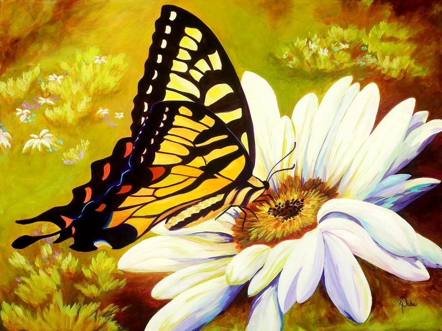 Butterfly and Flower Paintings Elegant Madame butterfly Painting Madame butterfly Fine Art Print