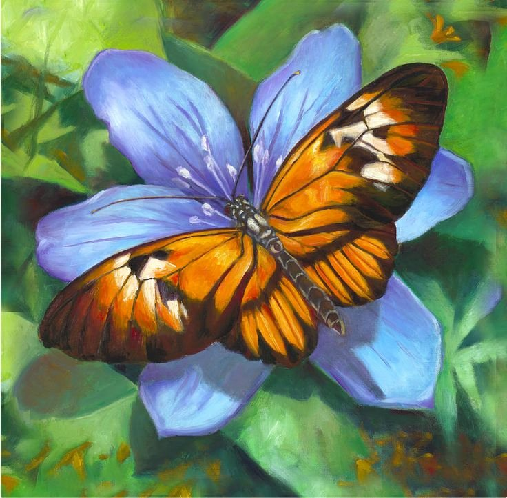 Butterfly and Flower Paintings Luxury 151 Best butterfly and Flower Paintings Images On Pinterest