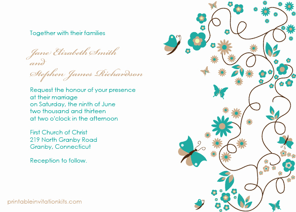 Butterfly Invitations Templates Free Awesome butterfly Garden Invitation ← Wedding Invitation Templates