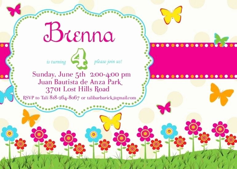 Butterfly Invitations Templates Free Awesome Free butterfly Birthday Invitation Templates