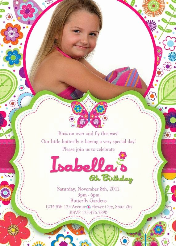 Butterfly Invitations Templates Free Beautiful butterfly Invitation butterflies and Flowers by
