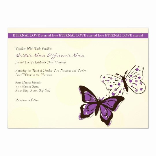 Butterfly Invitations Templates Free Elegant Purple and White Cool butterfly Wedding Invitation
