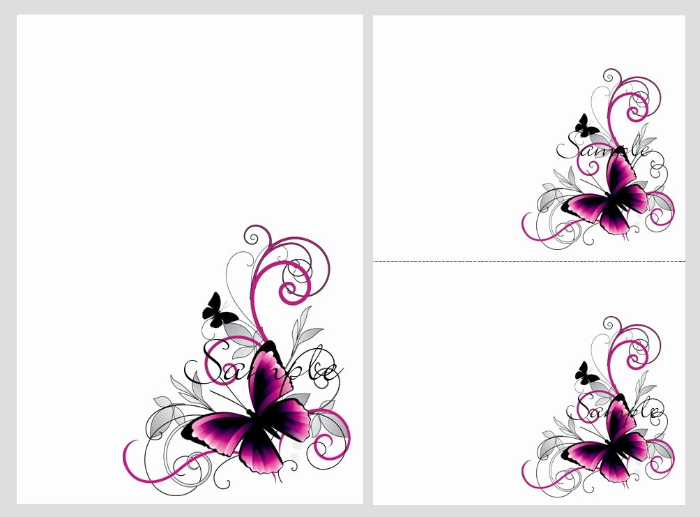 Butterfly Invitations Templates Free Luxury Pretty Pink & Black butterflies Blank Invitation