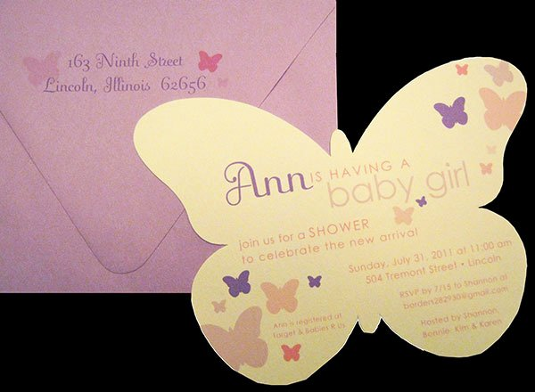 Butterfly Invitations Templates Free New butterfly Inspired Baby Shower Invitations Paper source Blog