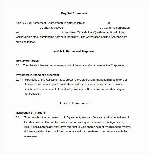 Buy Sell Agreements forms Fresh 12 Buy Sale Agreement Templates Word Apple Pages